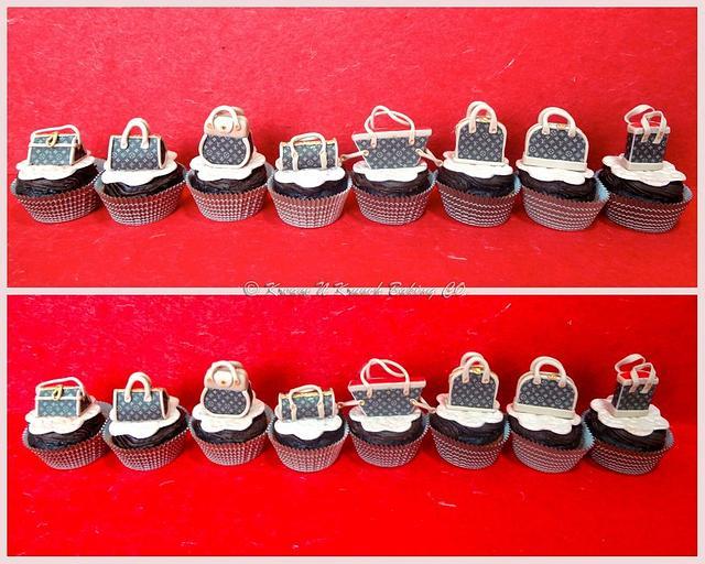 Mini Louis Vitton Cupcakes