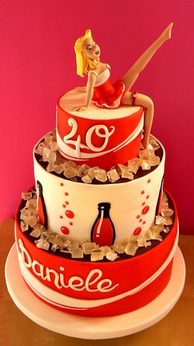 Terrific Coca Cola Cake Cake By Monia Cakesdecor Funny Birthday Cards Online Necthendildamsfinfo