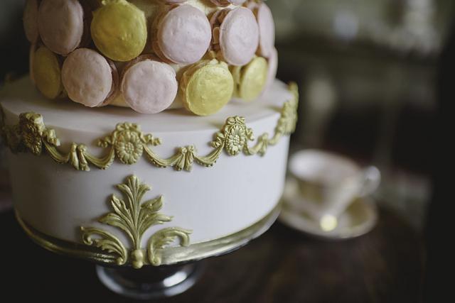 Marie Antoinette Macaron wedding cake