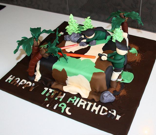 Peachy Laser Tag Cake Cake By Sweetz Cakes Cakesdecor Funny Birthday Cards Online Alyptdamsfinfo