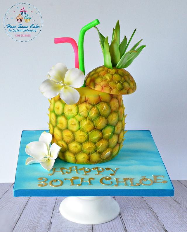 Marvelous Summer Birthday Cake Cake By Sylwia Sobiegraj The Cakesdecor Personalised Birthday Cards Bromeletsinfo