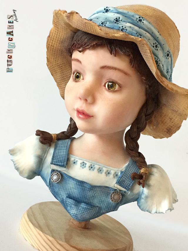 Little Girl Modelling Chocolate Bust