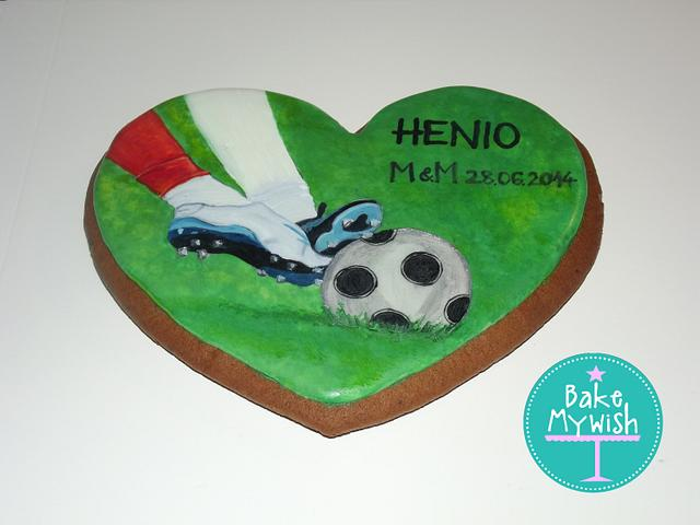 Hand Painted Soccer Cookie