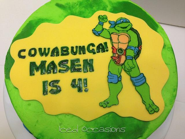 Strange Teenage Mutant Ninja Turtle Birthday Cake Cake By Cakesdecor Funny Birthday Cards Online Overcheapnameinfo