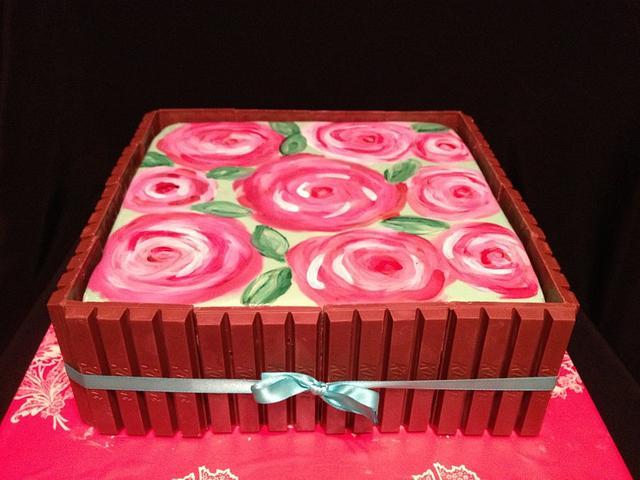 Lilly Pulitzer KitKat Cake