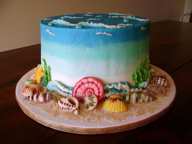 Amazing Beach Birthday Cake By Virago Cakesdecor Funny Birthday Cards Online Necthendildamsfinfo