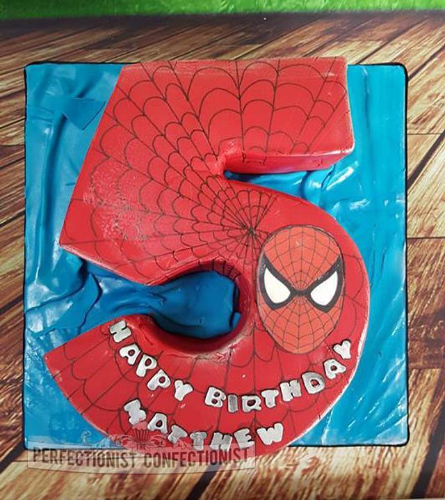 Matthew - Spiderman Birthday Cake