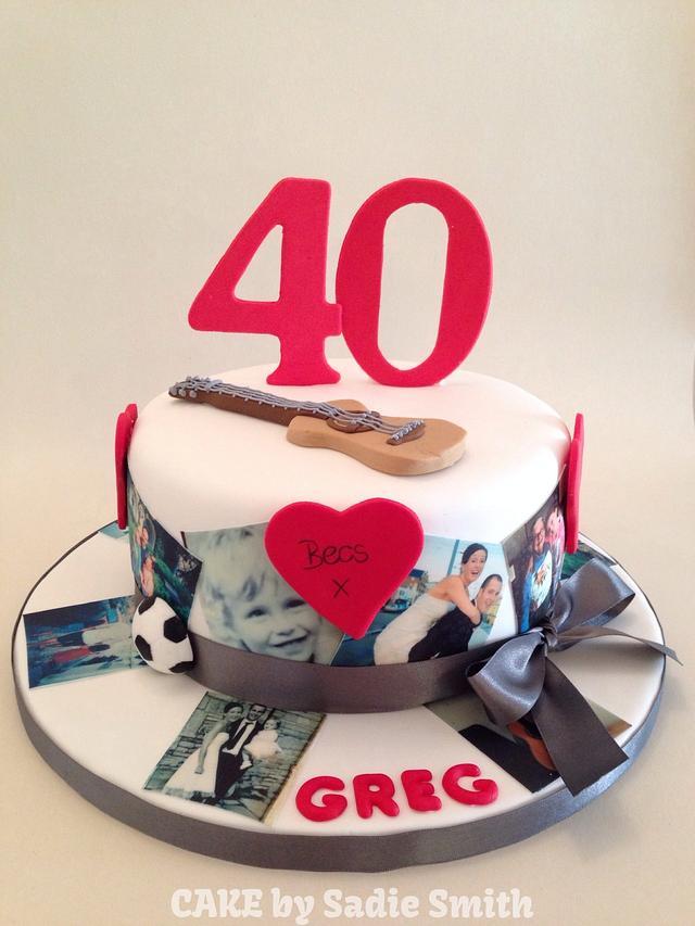Astonishing 40 Years In A Cake Cake By Sadie Smith Cakesdecor Funny Birthday Cards Online Bapapcheapnameinfo