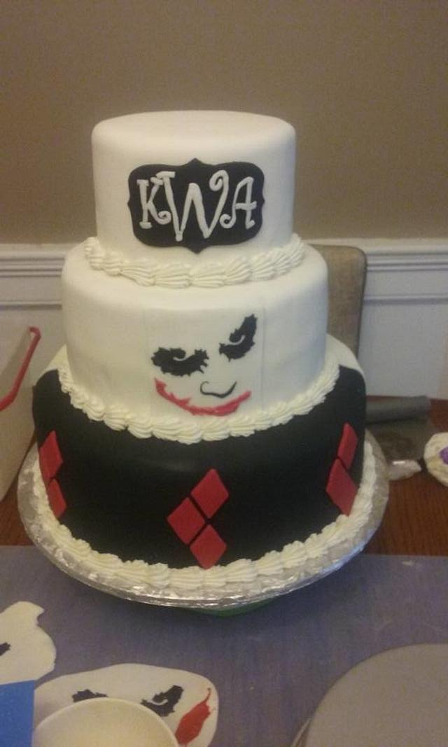 harley and joker wedding cake