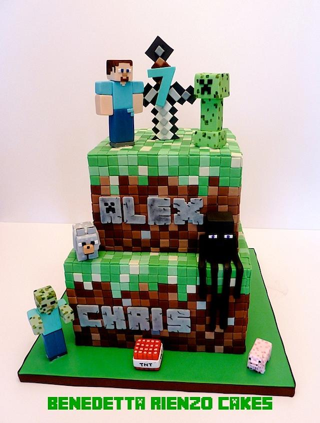 Awesome Minecraft Birthday Cake Cake By Benni Rienzo Radic Cakesdecor Funny Birthday Cards Online Fluifree Goldxyz