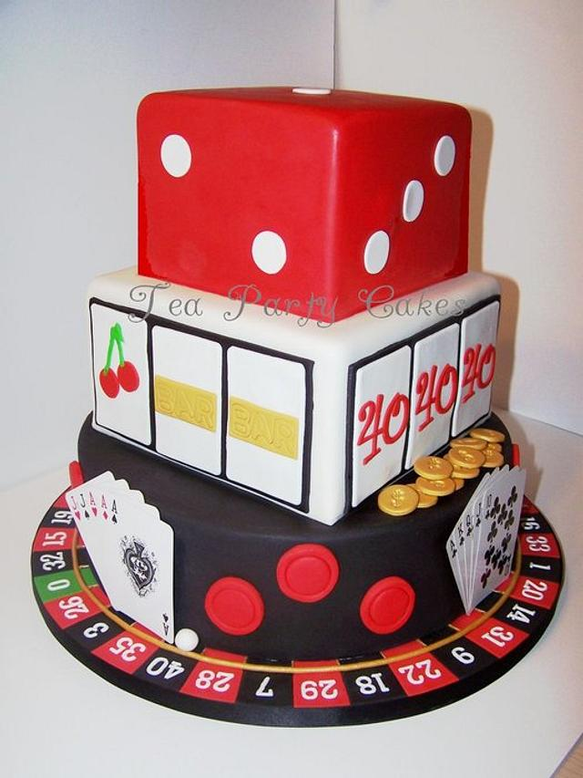 Fine 40Th Birthday Casino Cake Cake By Tea Party Cakes Cakesdecor Funny Birthday Cards Online Aeocydamsfinfo