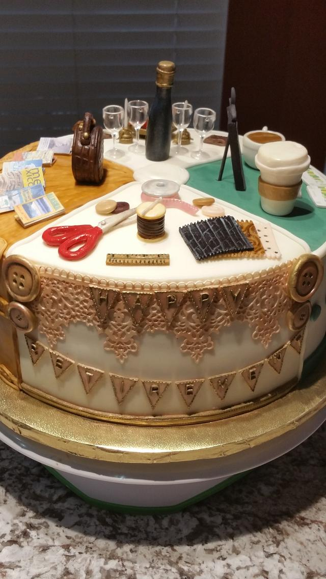 """""""A Few of Her Favorite Things"""" Retirement Cake"""