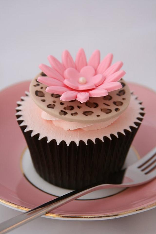 Leopard Skin Cupcake