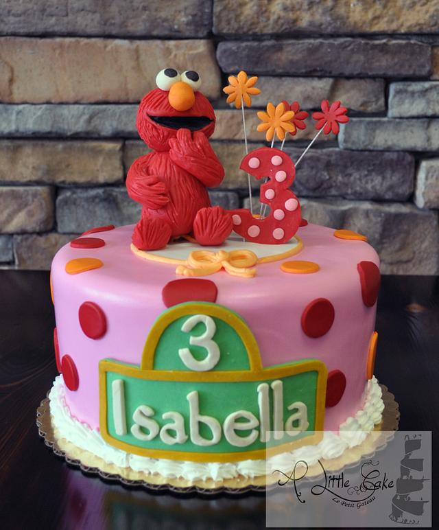 Tremendous Elmo Birthday Cake Cake By Leo Sciancalepore Cakesdecor Personalised Birthday Cards Paralily Jamesorg