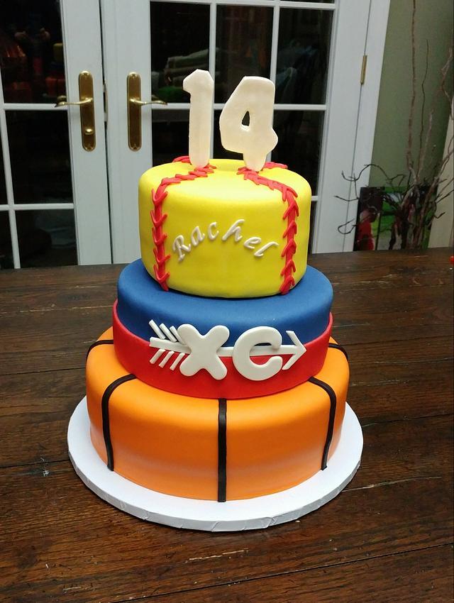 Sports birthday cake