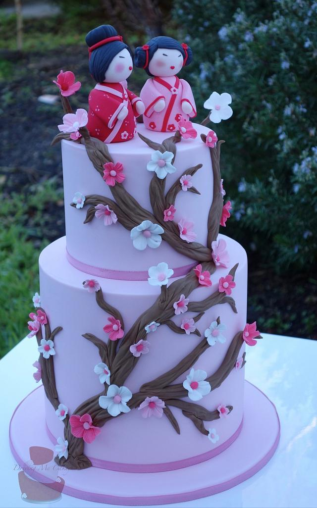 Sensational Japanese Birthday Cake Cake By Jaymie Cakesdecor Funny Birthday Cards Online Inifofree Goldxyz