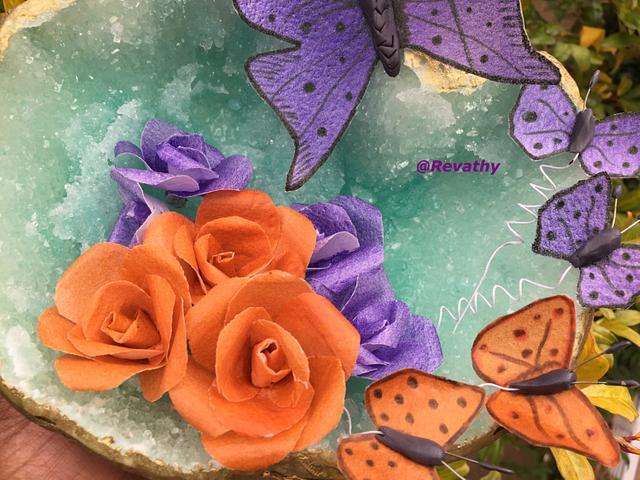 Wafer paper Butterfly & flowera