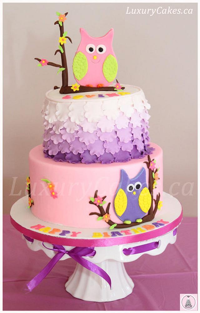 Surprising Owl Themed Birthday Cake Cake By Sobi Thiru Cakesdecor Funny Birthday Cards Online Aeocydamsfinfo