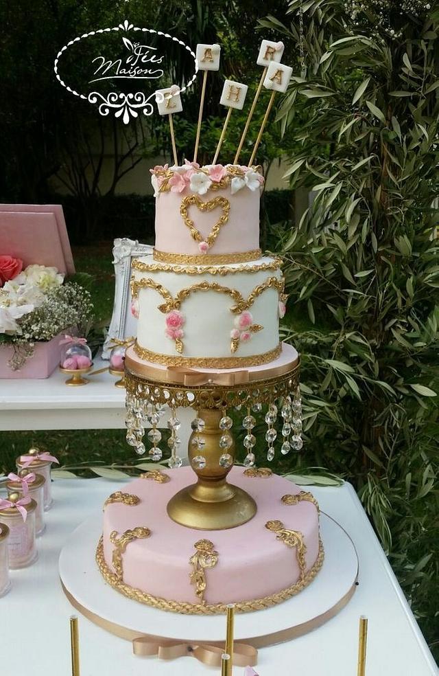 Chic Princess's Flowers Cake