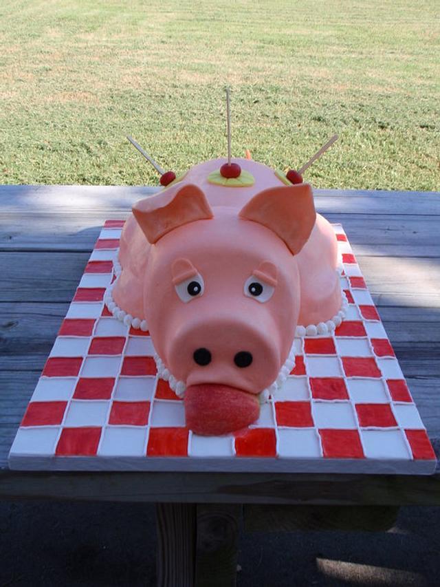 Luau Pig Rost Cake!