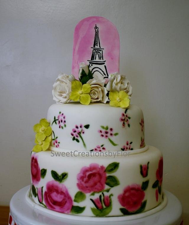 Paris in Spring Cake