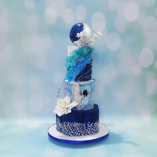 Royal Blue Wedding Cake