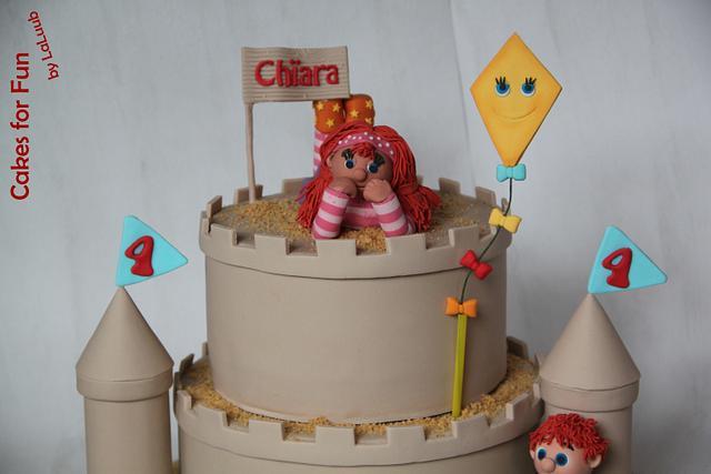 "Sand Castle Cake (TV serie ""Zandkasteel"")"