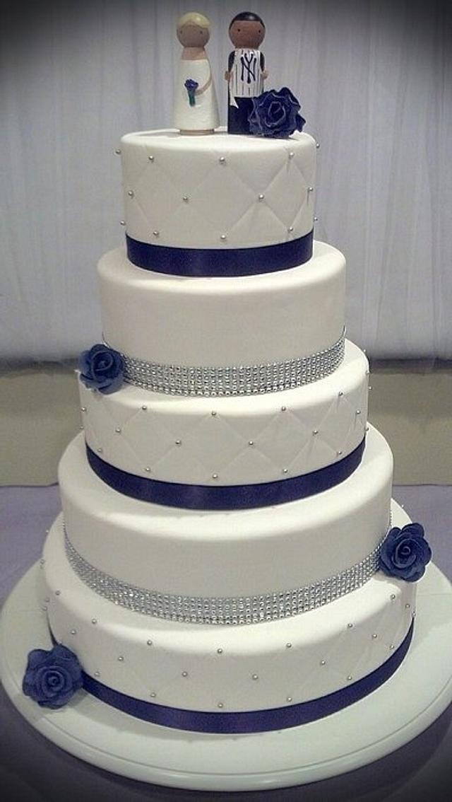 Quilted Wedding Cake