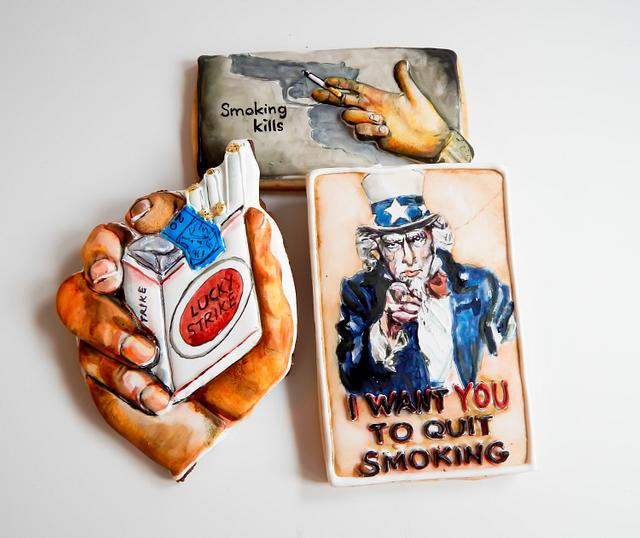 New Year's Resolution No Smoking Cookies