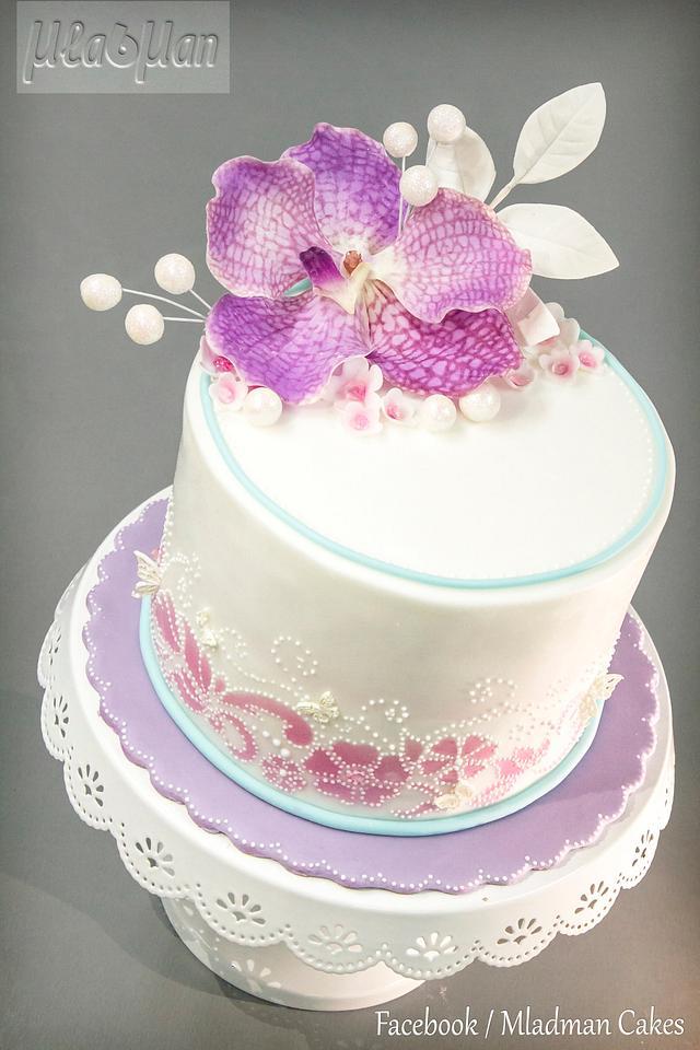 Purple Orchid Cake
