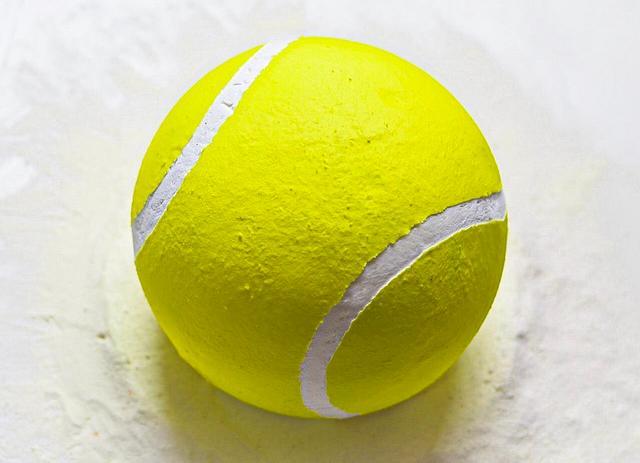 Whipped Cream Tennis Ball Cake