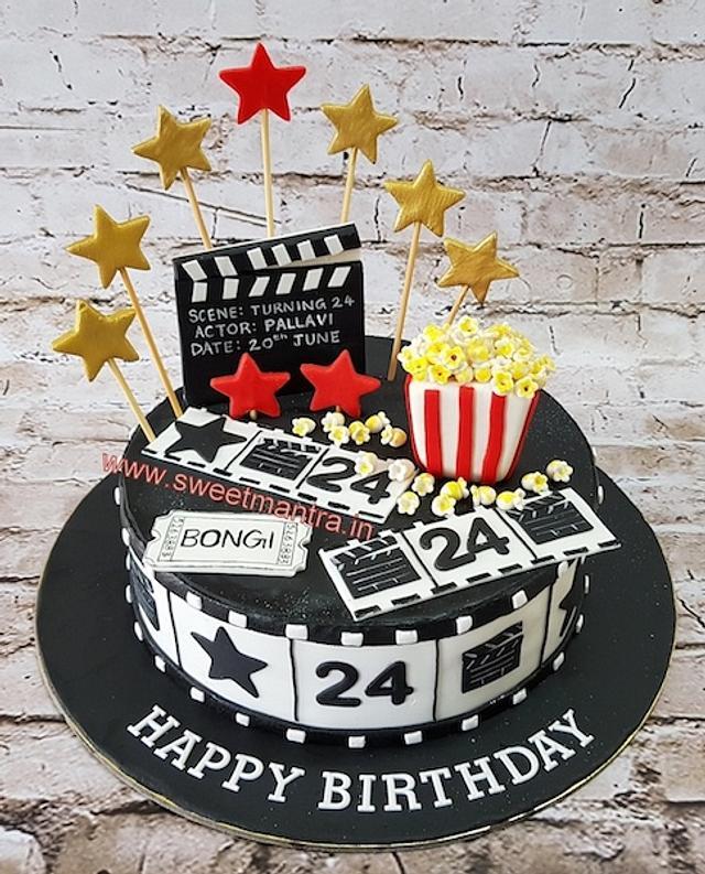 Terrific Movies Acting Theme Customised Designer Fondant Cake For Cakesdecor Funny Birthday Cards Online Kookostrdamsfinfo