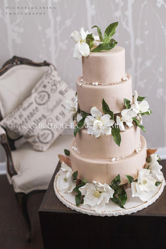 Magnolia and Gardenia Cake