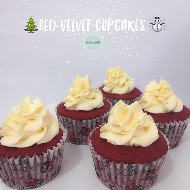Cupcakes Navideños Red Velvet