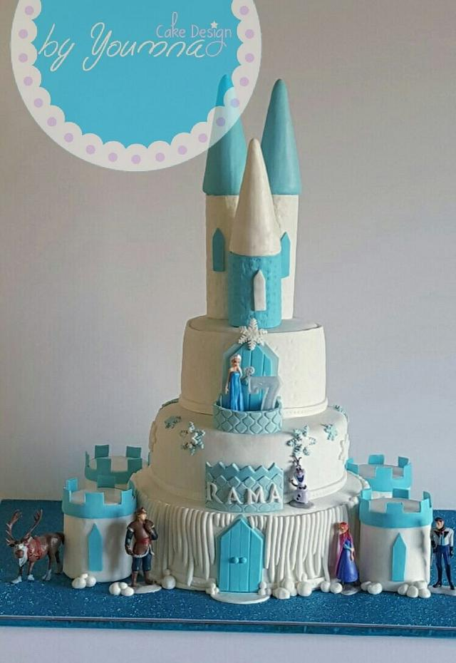Magnificent Frozen Birthday Cake Cake By Cake Design By Youmna Cakesdecor Birthday Cards Printable Trancafe Filternl