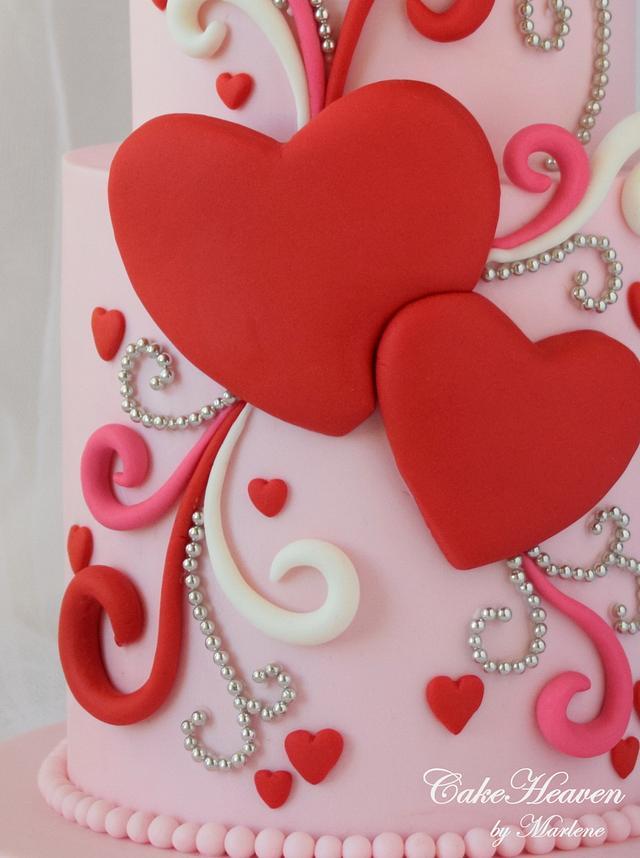 Whimsical Valentine's Cake