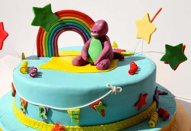 Remarkable Barney Birthday Cake Cake By The Sugarstudios Cakesdecor Funny Birthday Cards Online Necthendildamsfinfo