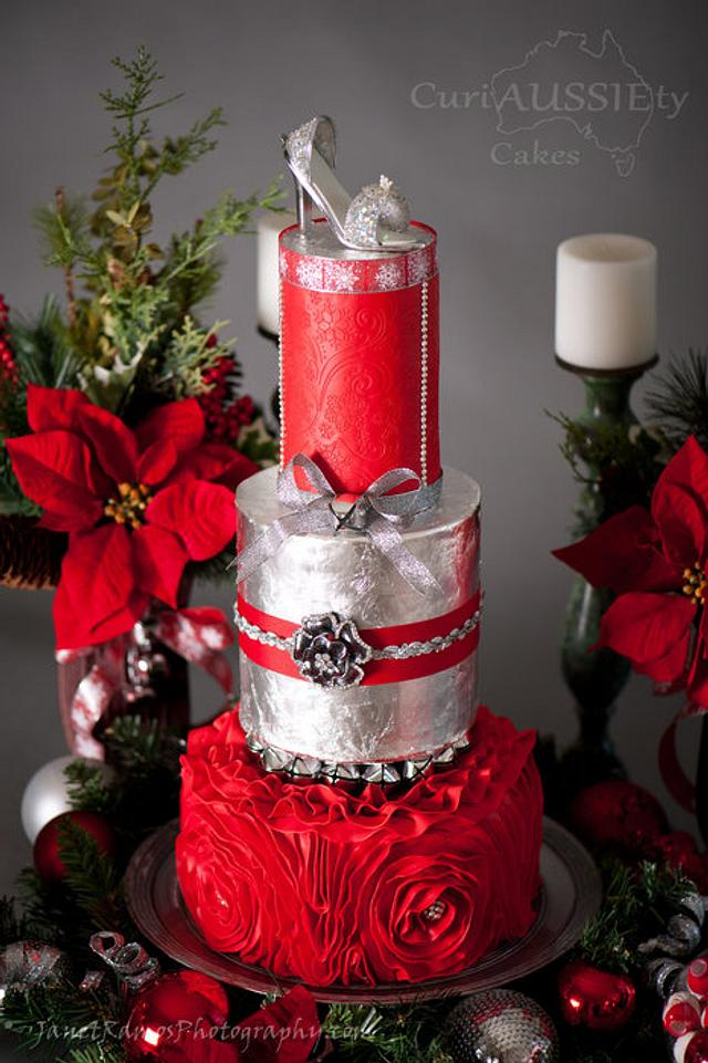 Bells and Bows wedding cake...Cake Central magazine vol 4 issue 12
