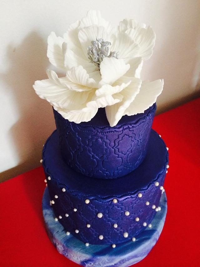 Wedding blue cake