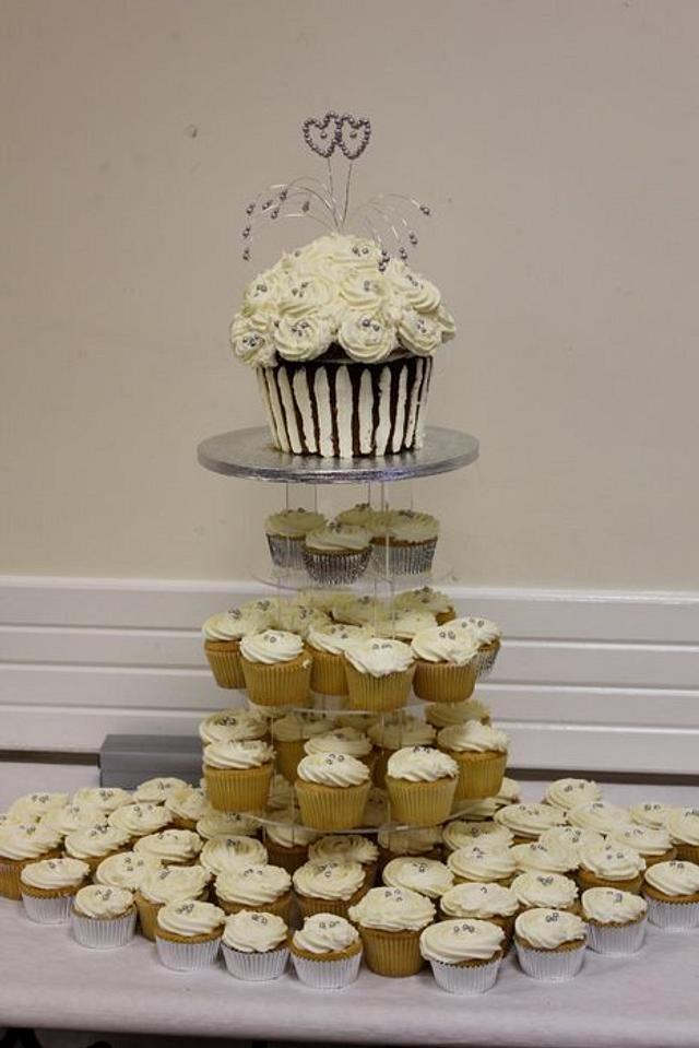 Large Vanilla Cupcake Tower