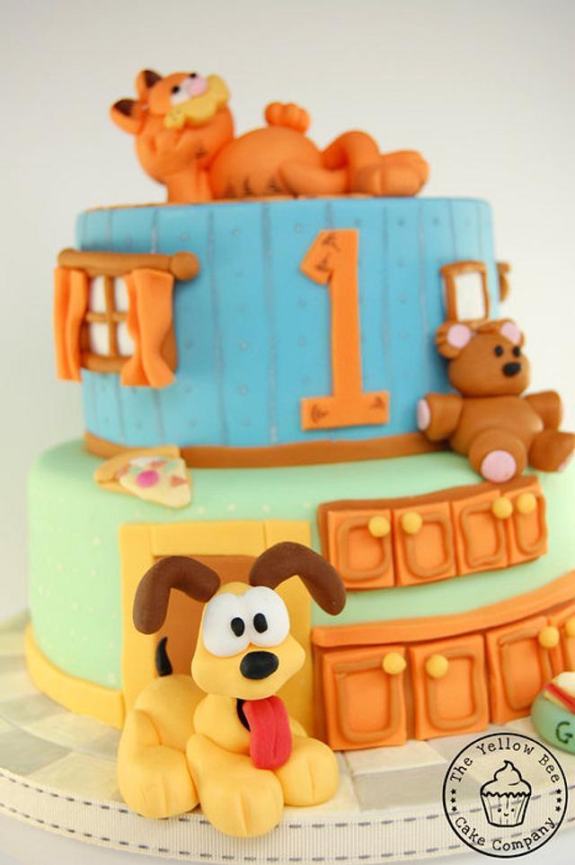 Garfield and Odie Birthday Cake