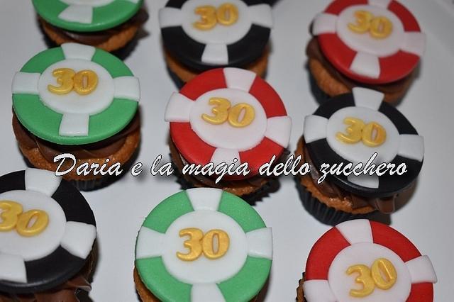 Casino cupcakes