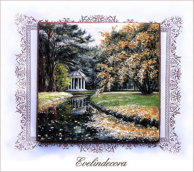 "Icing cookie ""Autumn in Versailles"""