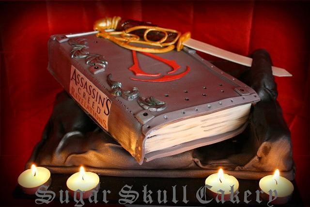 Assasins Creed(video Game) Themed Birthday Cake
