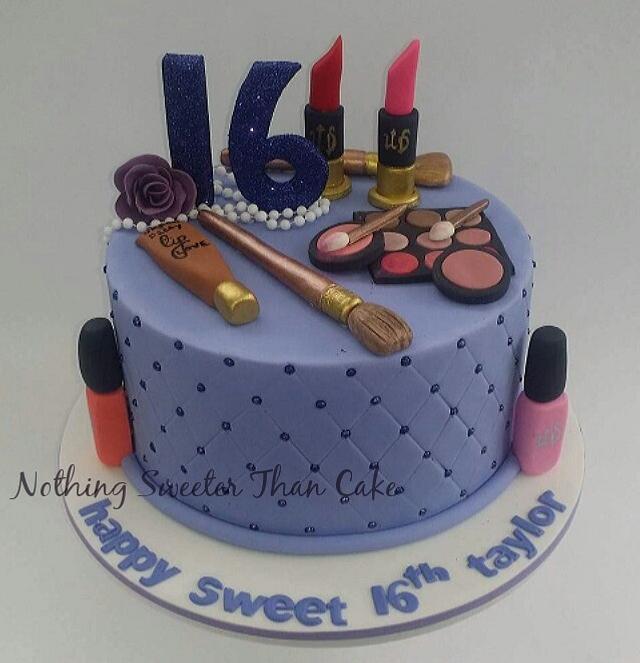 Sweet 16th make up Cake