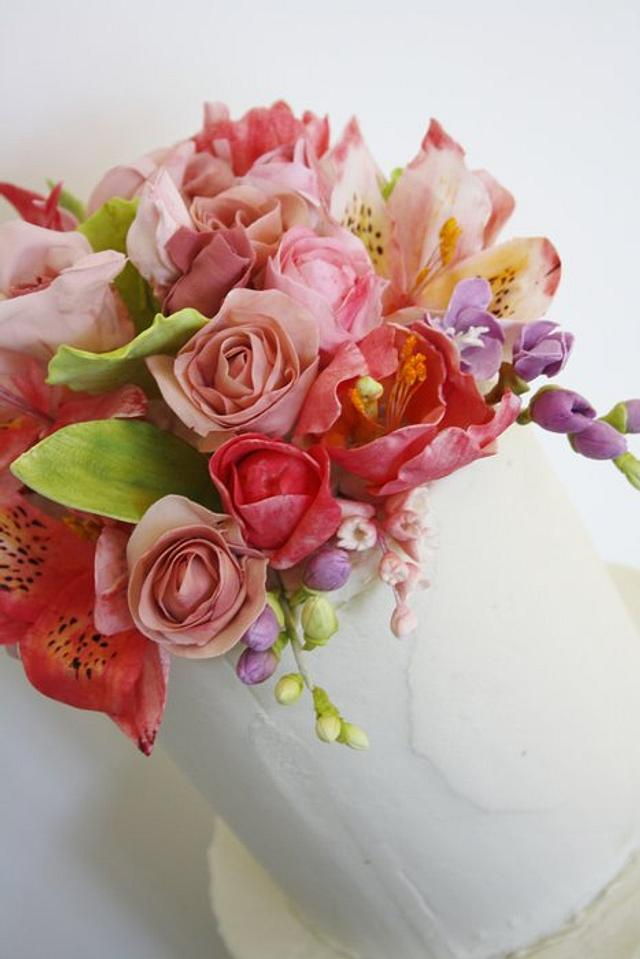Roses, Tulips, Freesia and Blushing Brides
