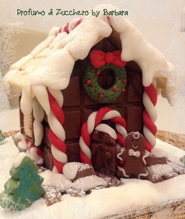 Chocolate Christmas house