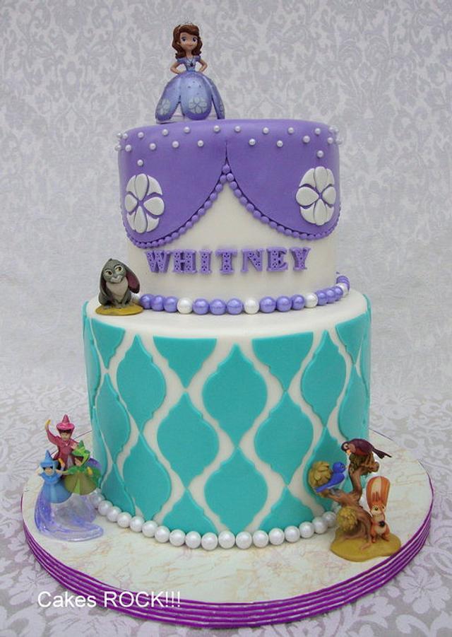 Cool Sofia The First Birthday Cake Cake By Cakes Rock Cakesdecor Funny Birthday Cards Online Necthendildamsfinfo