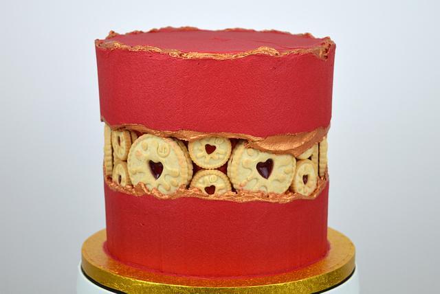 Jammie Dodgers Fault Line Cake