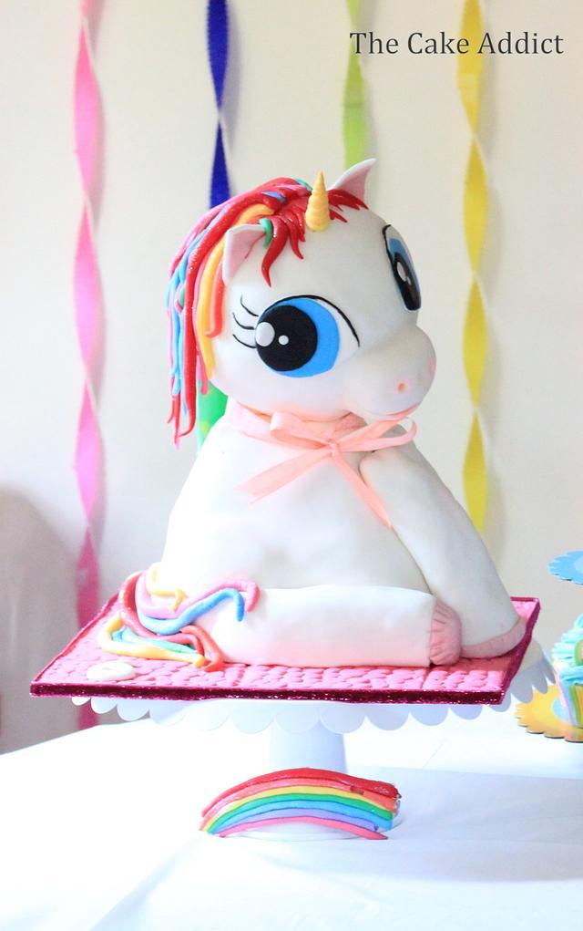 3D Rainbow Unicorn cake!!!